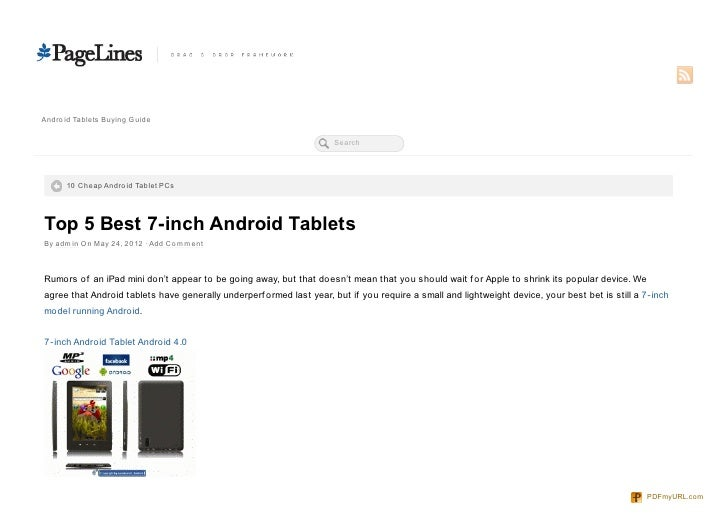 Andro id Tablets Buying Guide                                                                      Search      10 Cheap An...
