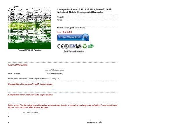 Www.kaufenakkus.com acer-as11a3e.html Slide 2