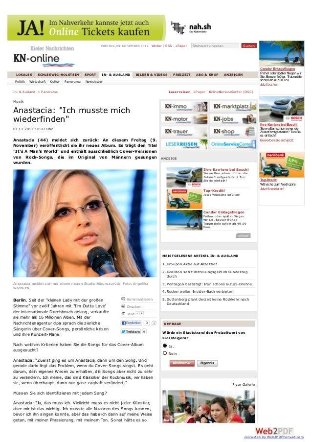 FREITA G, 09. NO V EMBER 2012 Wetter | RSS | ePaper   Stichwort eingeben               Suchen                             ...