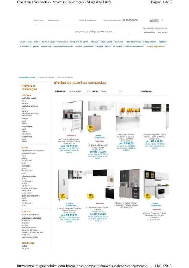 Cozinhas Compactas - Móveis e Decoração ‹ Magazine Luiza                                                                  ...
