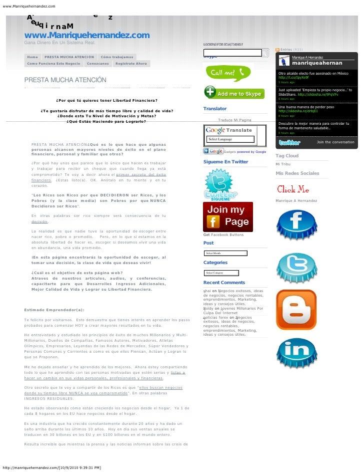 www.Manriquehernandez.com            H             d                   e            A                                     ...