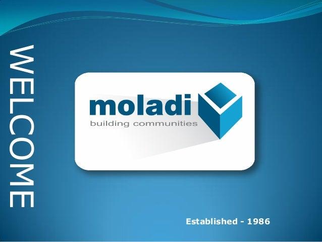 Low cost housingFormwork moladi Established - 1986 WELCOME