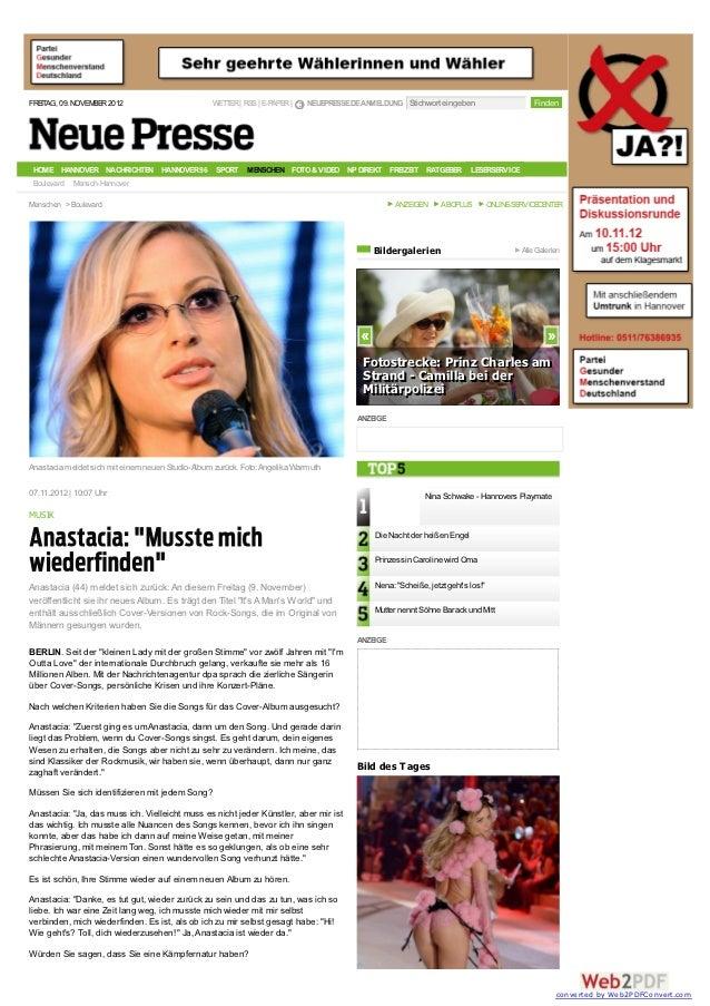 FREITAG, 09. NOVEMBER 2012                        WETTER | RSS | E-PAPER |   NEUEPRESSE.DE ANMELDUNG Stichwort eingeben   ...