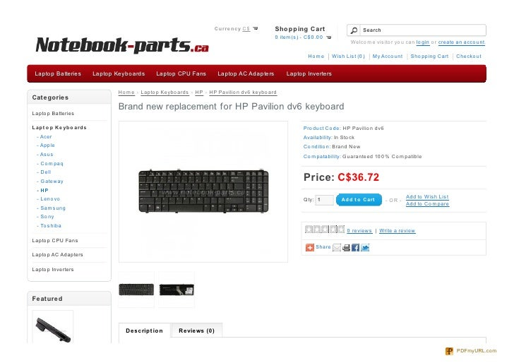 Replacement For Hp Pavilion Dv6 Keyboard  Hp Laptop Keyboard