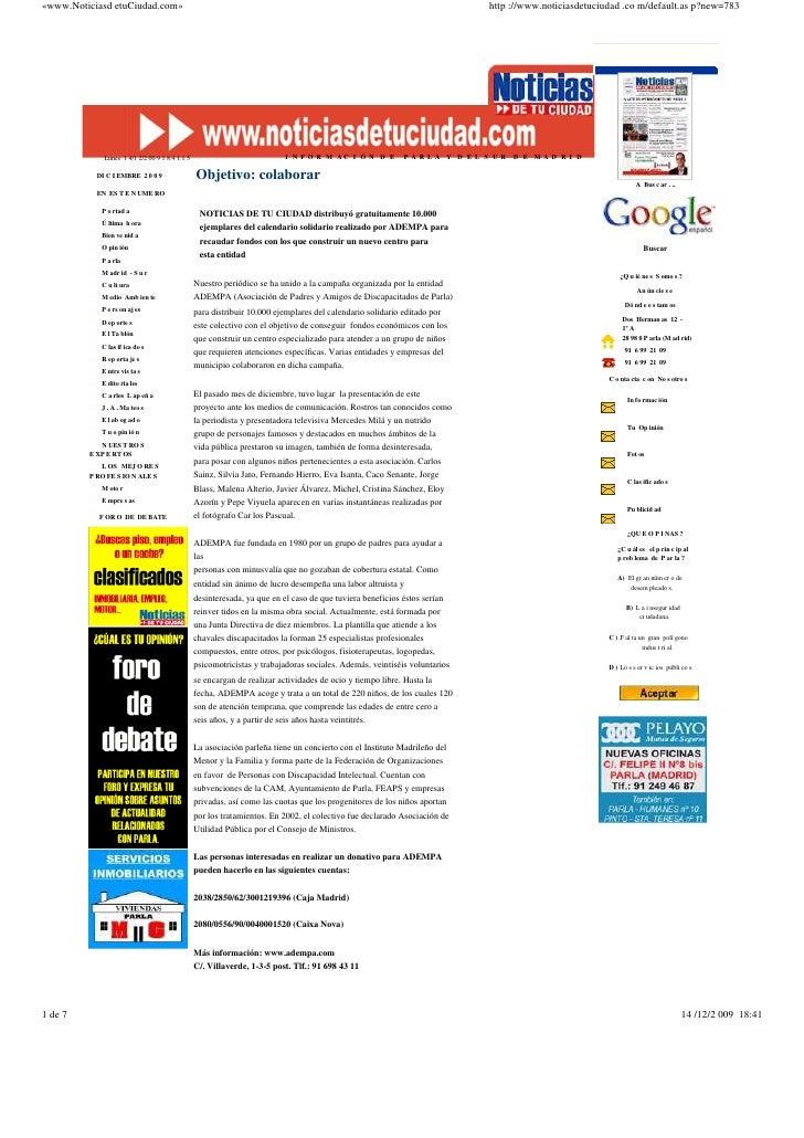«www.Noticiasd etuCiudad.com»                                                                                             ...