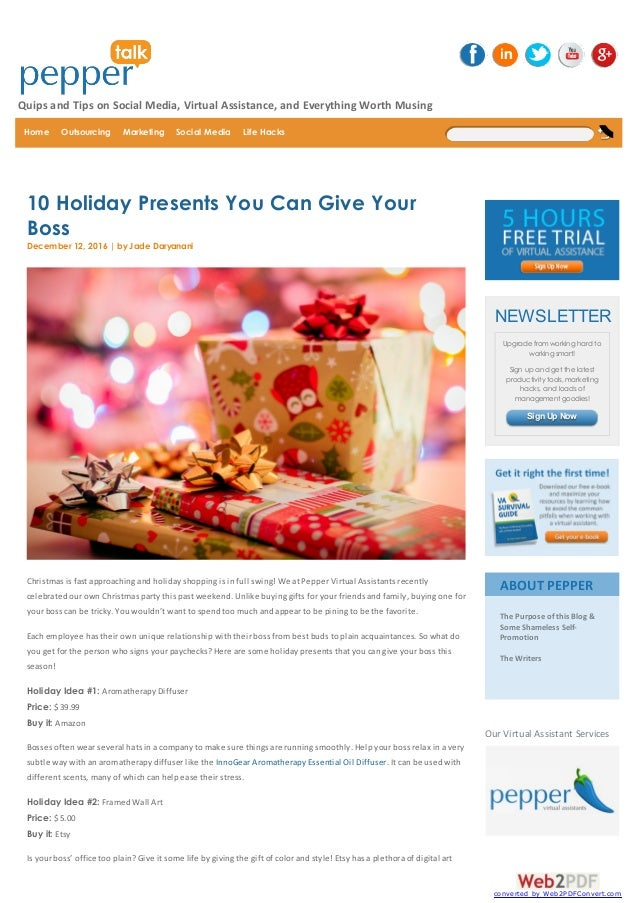 Christmas Gifts For Your Boss Female.Christmas Presents Ideas For Your Boss 15 Holiday Gifts For