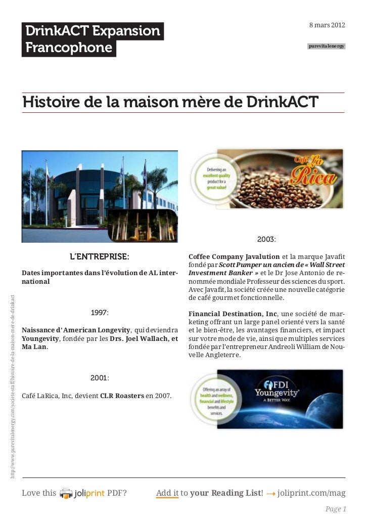 8 mars 2012                                                                                          DrinkACT Expansion   ...