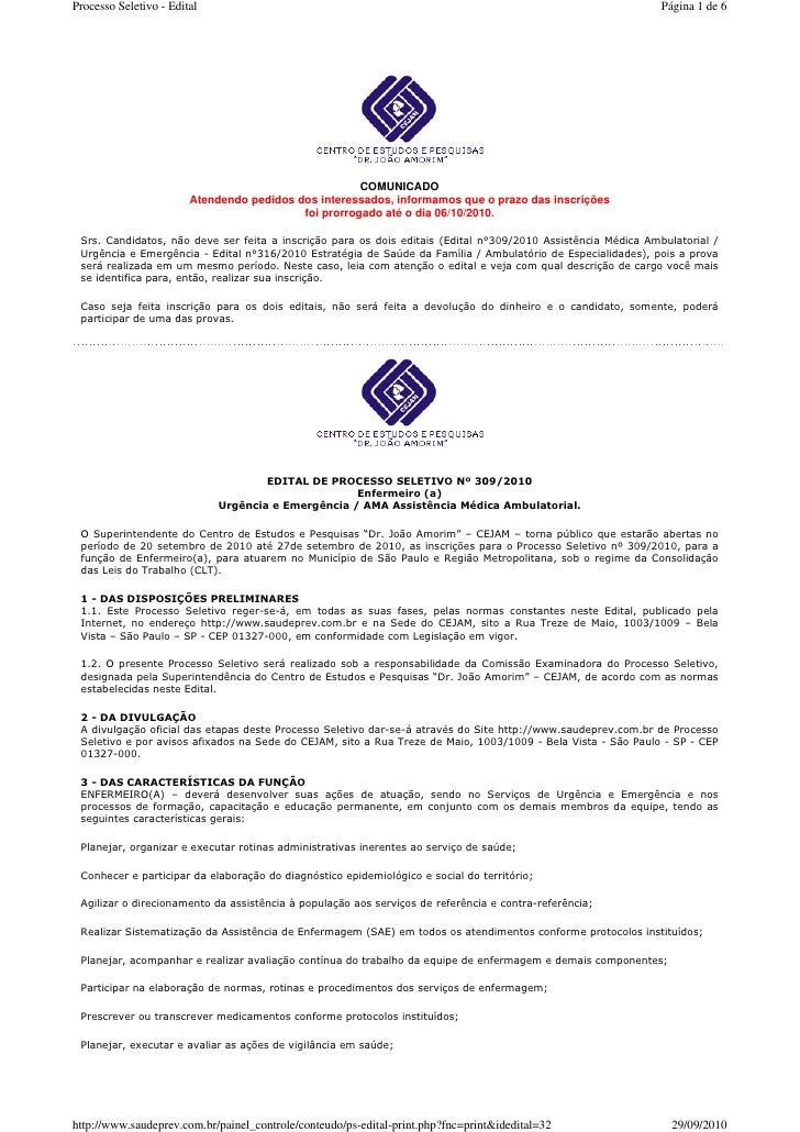 Processo Seletivo - Edital                                                                                     Página 1 de...