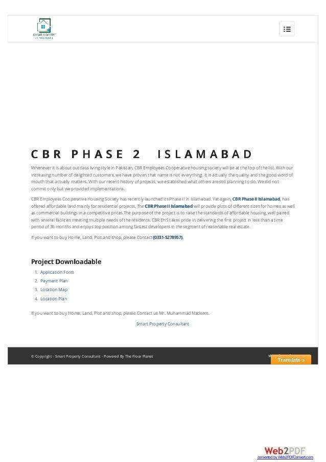 CBR Phase 2 Islamabad Pakistan