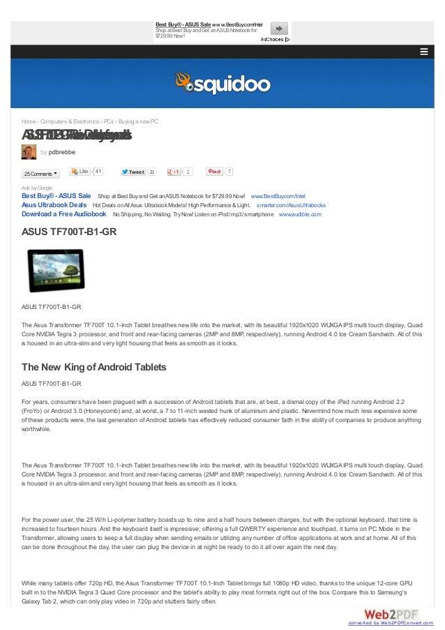 41 TweetTweet 21 2Ads by GoogleBest Buy® -ASUS Sale Shop at Best Buyand Get anASUSNotebook for $729.99 Now! www.BestBuy.co...