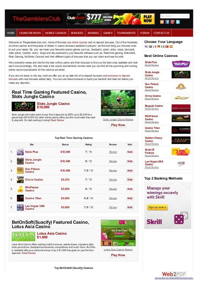 bonus online casino ohne einzahlung