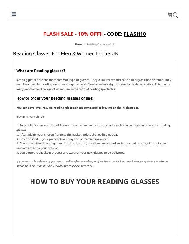 9ccb6471c041 Prescription Reading Glasses Online in UK For Men  amp  Women