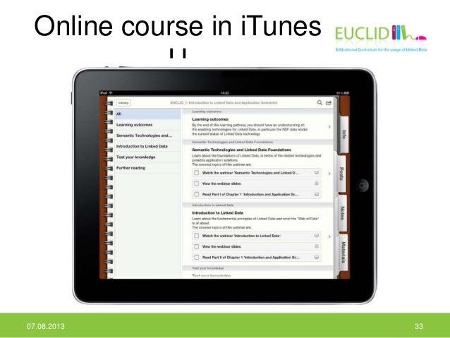 Online course in iTunes U 07.08.2013 33