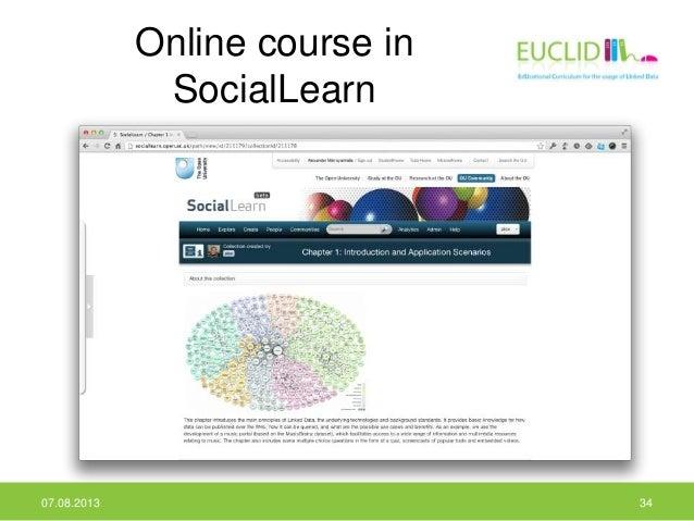 Online course in SocialLearn 07.08.2013 34