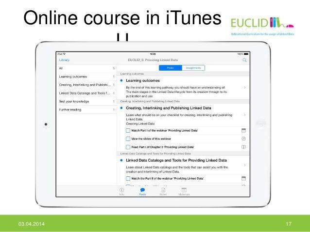 Online course in iTunes U 03.04.2014 17