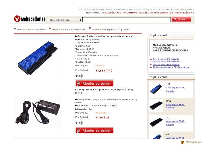 No us fo urnisso ns la plus haute qualité batterie acer aspire 7730 zg series, prix le plus bas, le meilleur service.     ...
