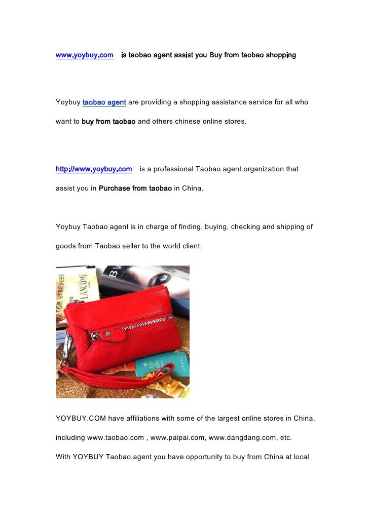 www.yoybuy.com  is taobao agent assist you Buy from taobao shopping <br />Yoybuy taobao agent are providing a shopping ass...