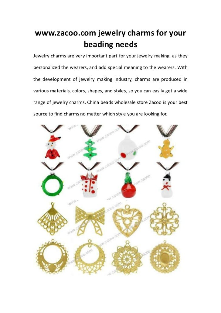 www.zacoo.com jewelry charms for your           beading needsJewelry charms are very important part for your jewelry makin...