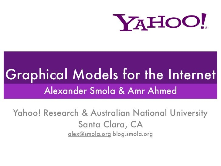 Graphical Models for the Internet        Alexander Smola & Amr Ahmed Yahoo! Research & Australian National University     ...