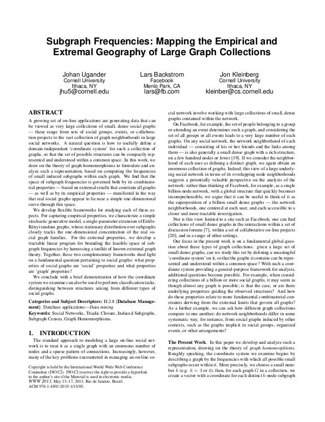 Subgraph Frequencies: Mapping the Empirical and          Extremal Geography of Large Graph Collections                  Jo...