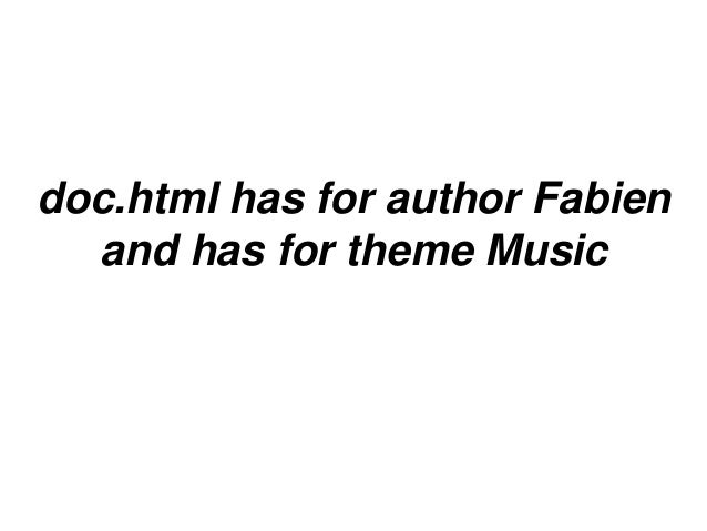 doc.html has for author Fabienand has for theme Music