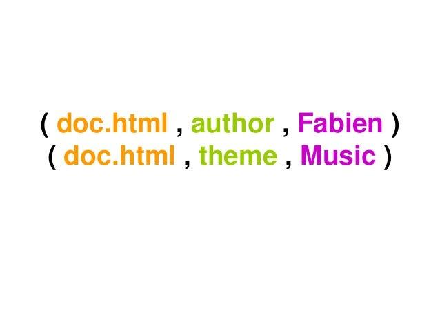 ( doc.html , author , Fabien )( doc.html , theme , Music )