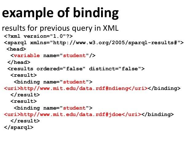 sort, filter and limit answersPREFIX mit: <http://www.mit.edu#>PREFIX foaf: <http://xmlns.com/foaf/0.1/>SELECT ?student ?n...