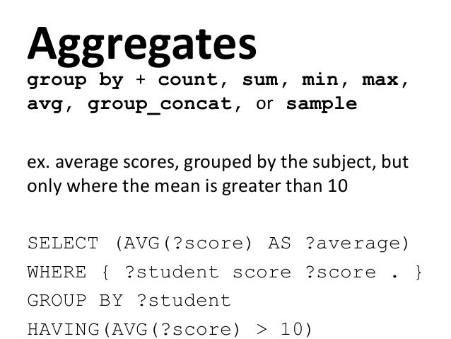 test a value is in / not in a listprefix foaf: <http://xmlns.com/foaf/0.1/>select * where {?x foaf:name ?n .filter (?n in ...