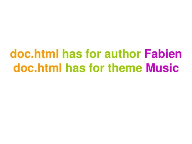 doc.html has for author Fabien doc.html has for theme Music