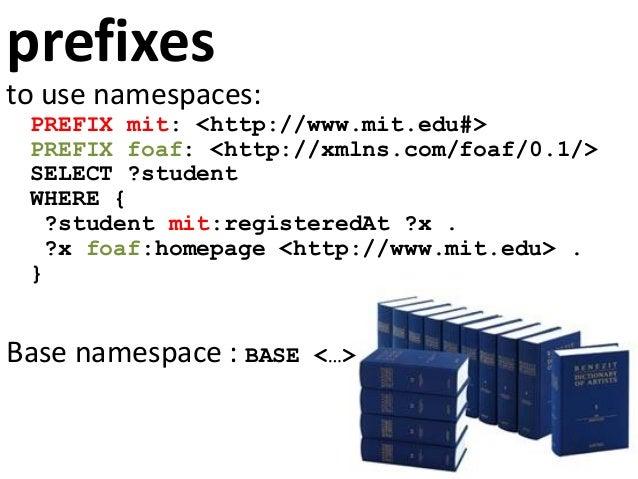 optional part PREFIX mit: <http://www.mit.edu#> PREFIX foaf: <http://xmlns.com/foaf/0.1/> SELECT ?student ?name WHERE { ?s...