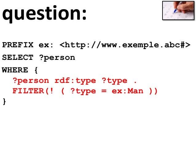 """paths prefix foaf: <http://xmlns.com/foaf/0.1/> select ?friends_fab where { ?x foaf:name """"Fabien Gandon"""" ; foaf:knows+ ?fr..."""