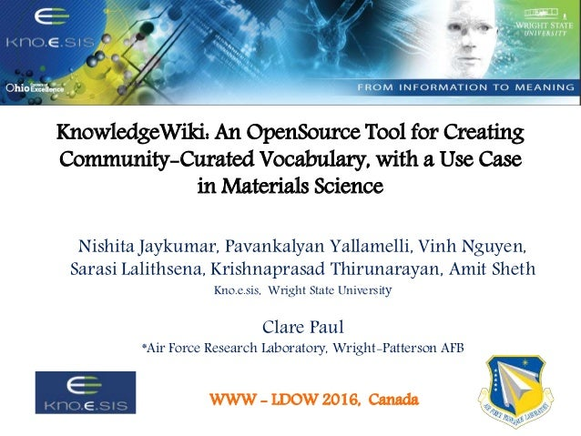 knowledgewiki an opensource tool for creating community curated vocabulary with a use case - Use Case Tools Open Source
