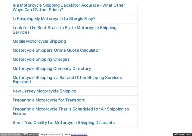 Motorcycle Shipping Quote Gorgeous International Overseas Motorcycle Shipping Services From A1 Auto Tra…