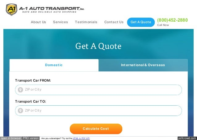 Auto Transport Quote Glamorous Car Shipping Rates & Auto Transport Quotesa1 Auto Transport