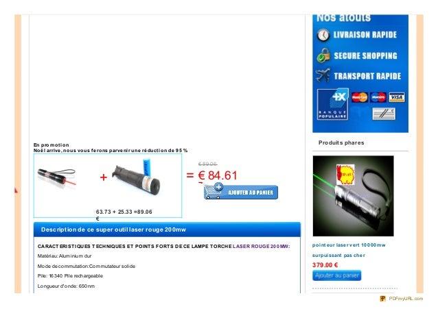 achat laser rouge 200mw  Slide 2