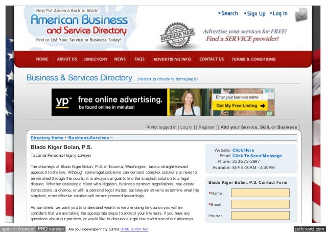 Directory - American Business and Service Directory - Find or List Y…