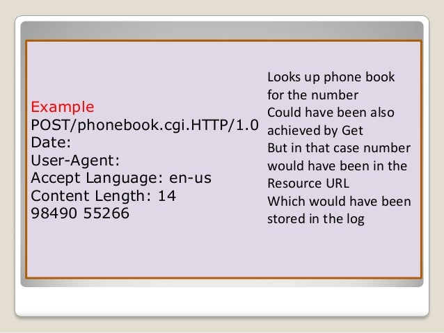 Although  it is remarkably flexible, HTTP is not a secure protocol.   The  POST messages upload information to the serv...