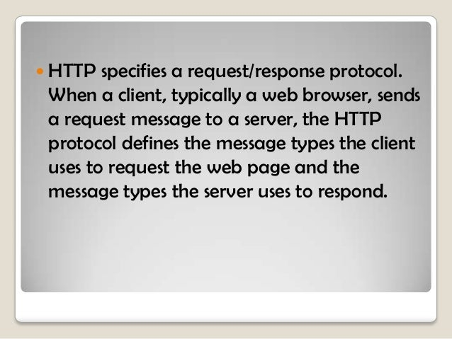  GET  is a client request for data.  A  web browser sends the GET message to request pages from a web server.    When t...