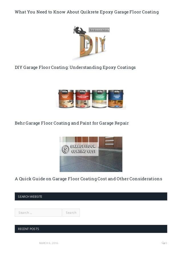 ... Garage Floor Coating U2013 A Review; 11.