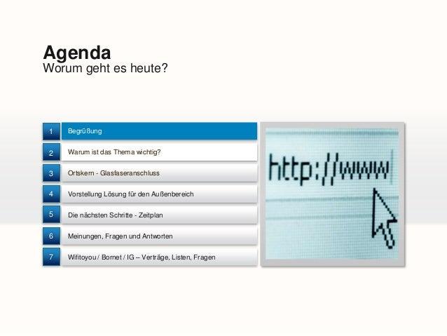 Wertherbruch Wills Wissen - Buergerversammlung 18.03.2014 zum Thema Glasfaser Slide 2
