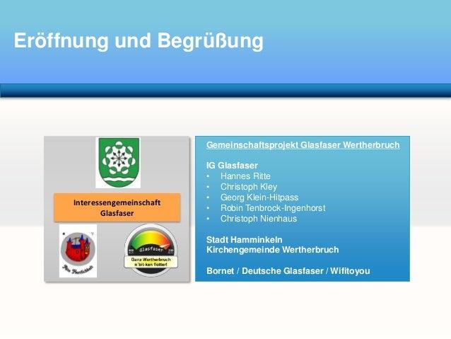 Wertherbruch Wills Wissen - Buergerversammlung 18.03.2014 zum Thema Glasfaser Slide 3