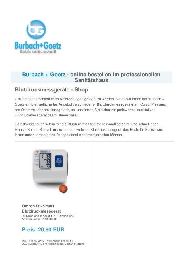 Omron R1-Smart Blutdruckmessgerät Blutdruckmessgerät f. d. Handgelenk Artikelnummer 014990000 Preis: 20,90 EUR inkl. 19,00...
