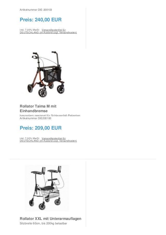 Rollatoren vom Sanitätshaus Burbach + Goetz