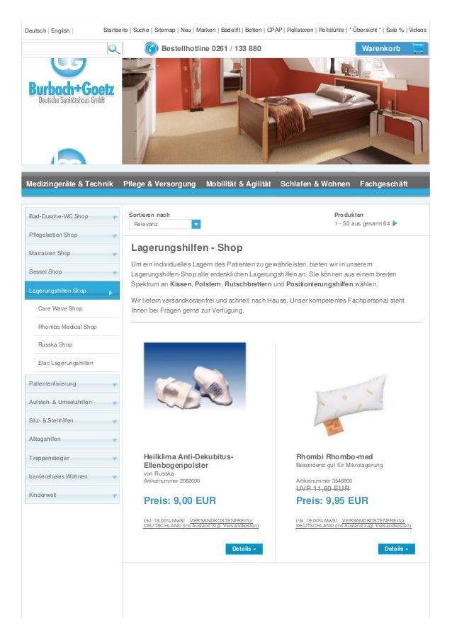 Deutsch   English   Bestellhotline 0261 / 133 880 Warenkorb Medizingeräte & Technik Pflege & Versorgung Mobilität & Agilit...