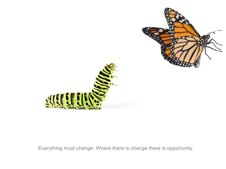 Everything must change. Where there is change there is opportunity.