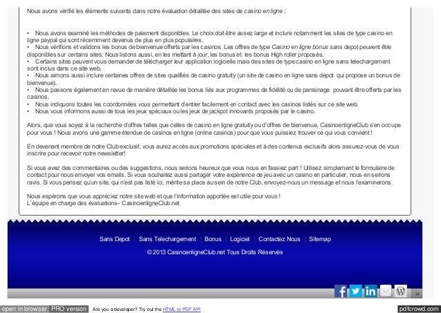 pdfcrowd.comopen in browser PRO version Are you a developer? Try out the HTML to PDF API Nous avons vérifié les éléments s...