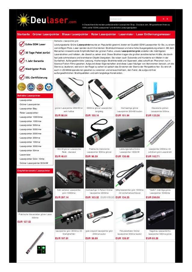 grüner Laserpointer 200mW ist sehr haltbar EUR 98.04 3000mw grüner Laserpointer langlebig EUR 150.14 Hochwertige grüner La...