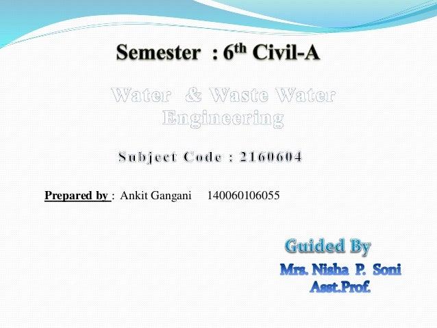 WATER & WASTE WATER ENGINEERING -  water treatment process & units Slide 2