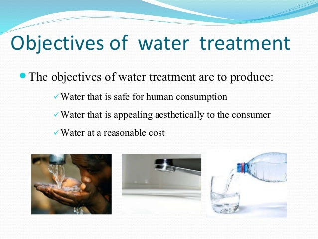 objectives of water treatment pdf