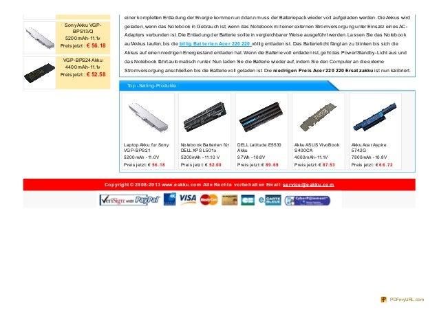 Laptop Akku fur Sony VGP-BPS21 5200mAh -11.0V Preis jetzt: € 56 .18 Notebook Batterien für DELL XPS L501x 5200mAh -11.10 V...